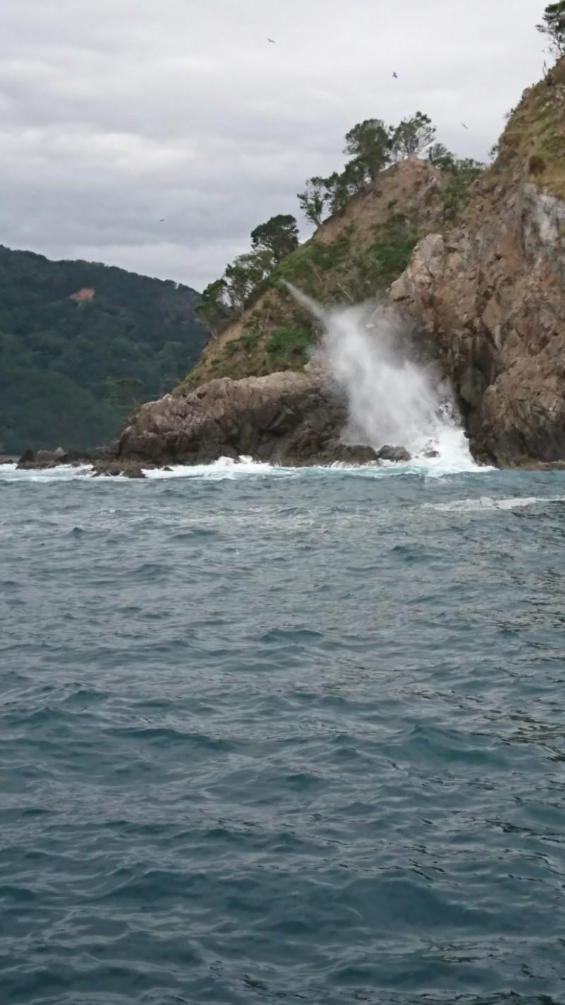 台風前に海の様子‼️